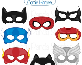 Superhero printable party masks superhero masks hero masks etsy comic hero masks comic book heroes comic masks superhero party superhero mask heroes masks superhero printable masks hero mask maxwellsz