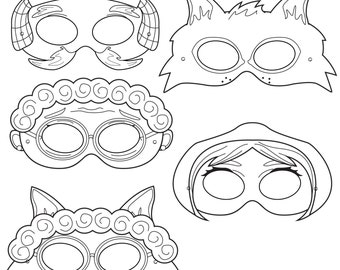 Little Red Riding Hood Printable Masks red riding hood