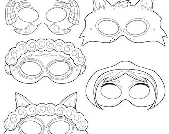 Goldilocks And The Three Bears Printable Masks Goldilocks | Etsy
