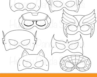 photo about Super Hero Printable Masks identified as Tremendous Children Printable Coloring Masks hero mask villain mask