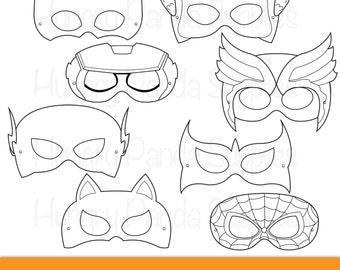 photo about Super Hero Printable Masks identified as Tremendous Children Printable Coloring Masks hero mask villain mask