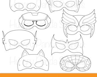 superhero masks etsy