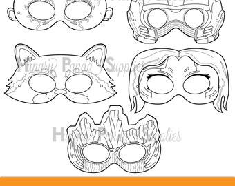 Space Hero Printable Masks Hero Masks Printable Masks Alien Etsy