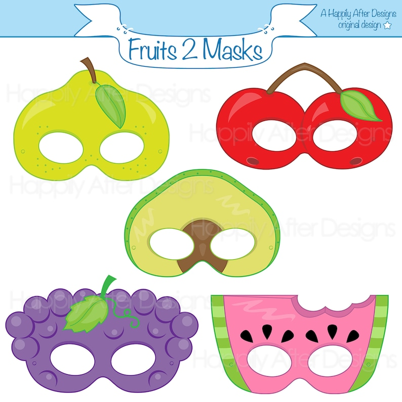 photograph relating to Printable Fruit Pictures known as End result 2 Printable Masks, avocado mask, cherry mask, grapes, pear, watermelon, fruit gown mask, culmination, food items dress mask, printable mask