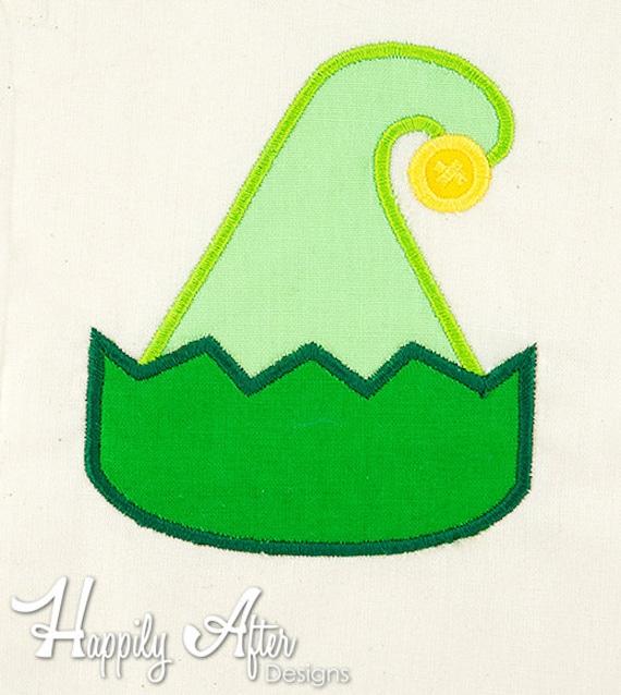 Elf Hat Applique Stickerei Design Applique Christmas Elf | Etsy