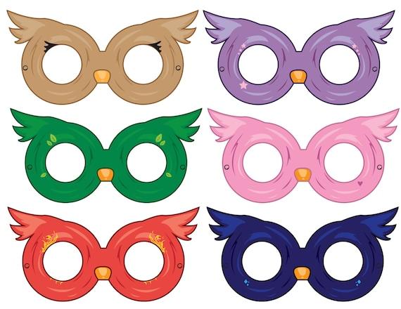 Elegant Owl Masks Paper Masks Printable Mask Party Ideas Party | Etsy