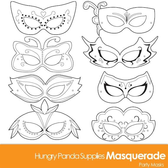 masquerade masks masquerade mask printable masquerade mask etsy
