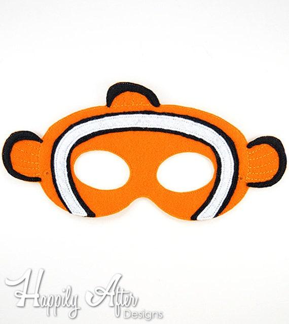 Máscara de payaso máscara bordado diseño máscara de pez | Etsy