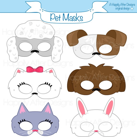 Gratifying image in printable bunny mask