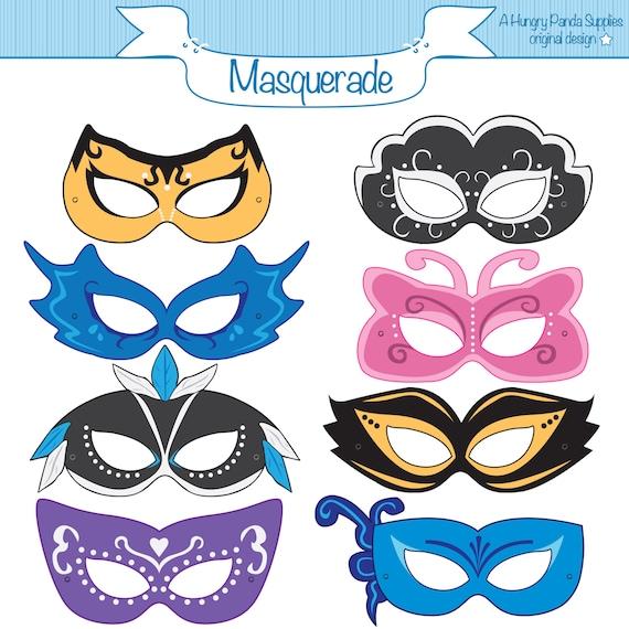 masquerade printable masks masquerade mask printable etsy