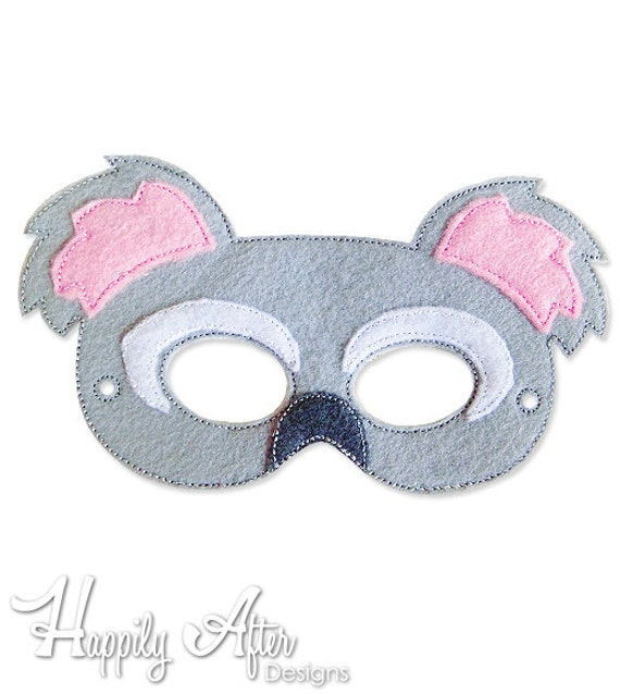 Bordado de Koala Bear máscara diseño del bordado máscara   Etsy