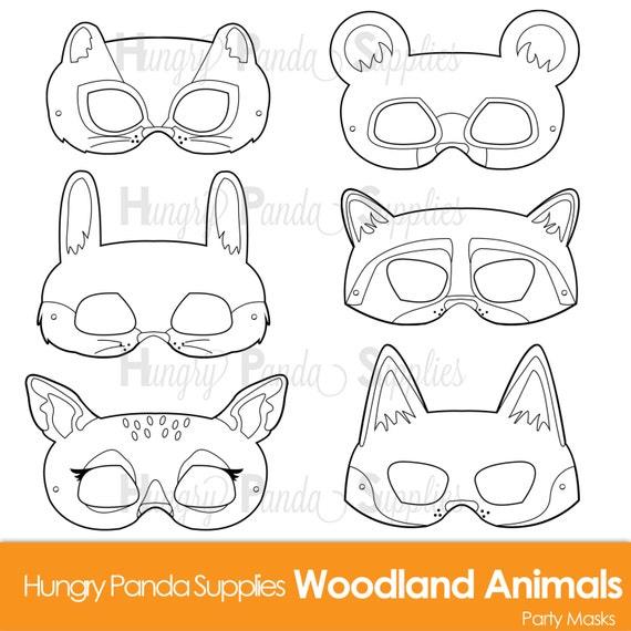 Woodland Forest Animals Coloring Masks Animal Mask