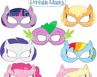 Pony Printable Masks, pony mask, horse mask, girls costume, pony party, little pony, pony costume, horse costume, dragon mask, pony girl