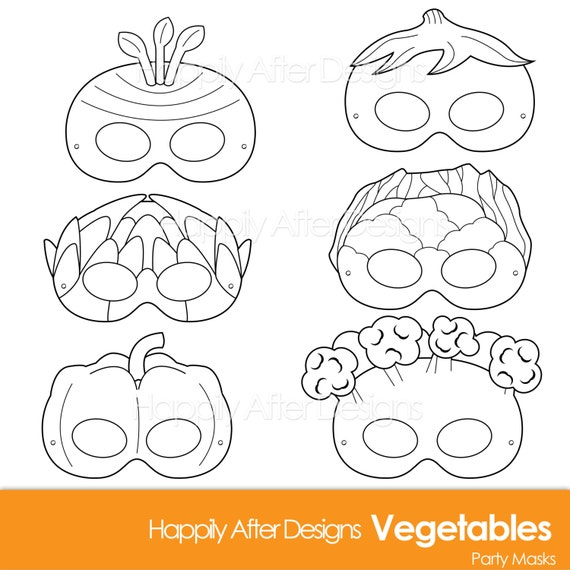 photo relating to Vegetable Printable referred to as Vegetable Printable Coloring Masks, carrot mask, broccoli, artichoke, cauliflower, eggplant, veggie mask, greens, pepper, printable mask