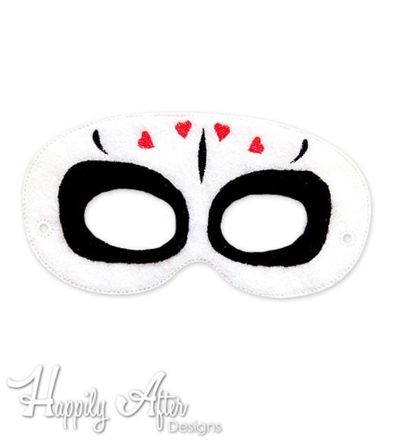 Máscara de día de muertos máscara 4 bordado diseño máscara de | Etsy