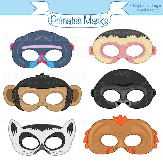 Primates Printable Masks Monkey Mask Ape Gorilla