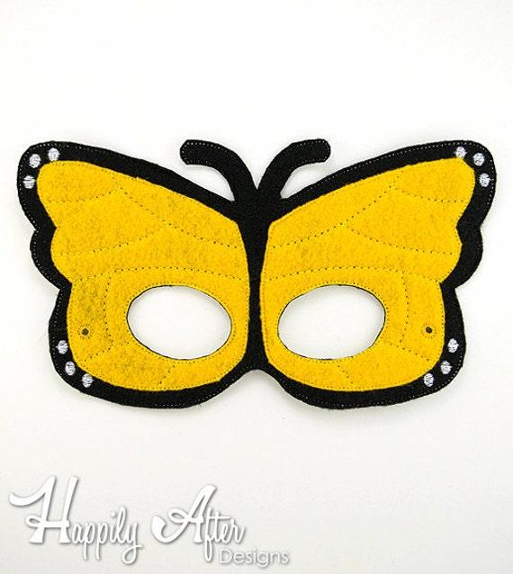 Felt and Vinyl Butterfly Mask