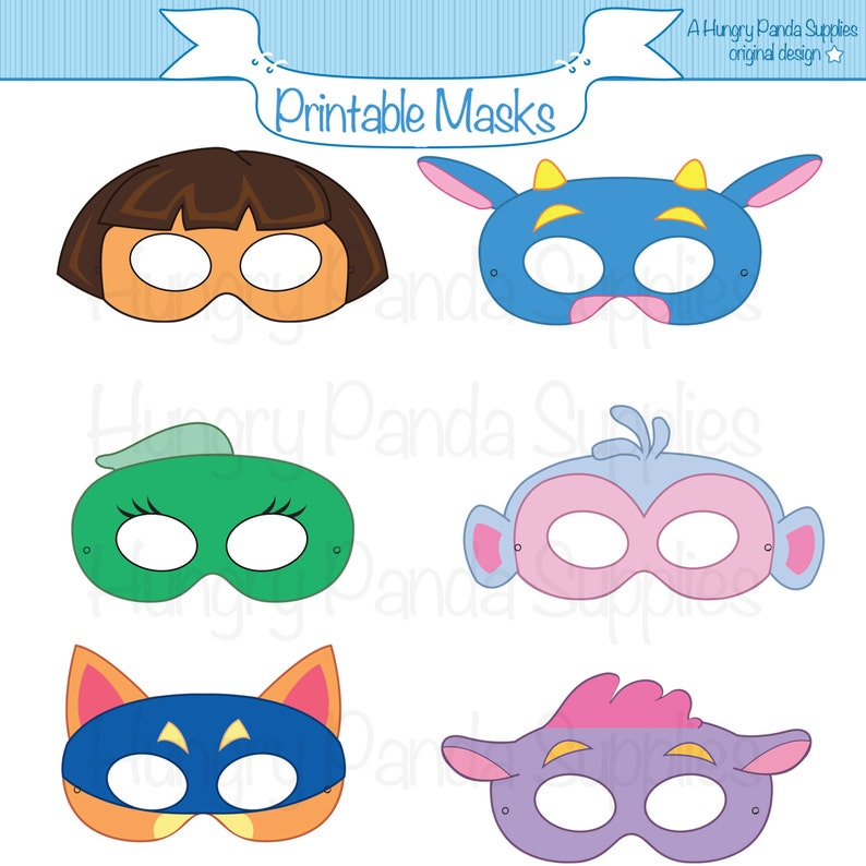 picture relating to Cow Costume Printable identified as Adventurer Printable Masks, sly fox, cow, monkey, women of all ages masks, cartoon masks, halloween dress, youngsters bash masks, animal masks, fox mask