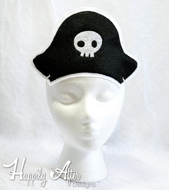 Diseño de pirata sombrero del bordado sombrero de pirata | Etsy