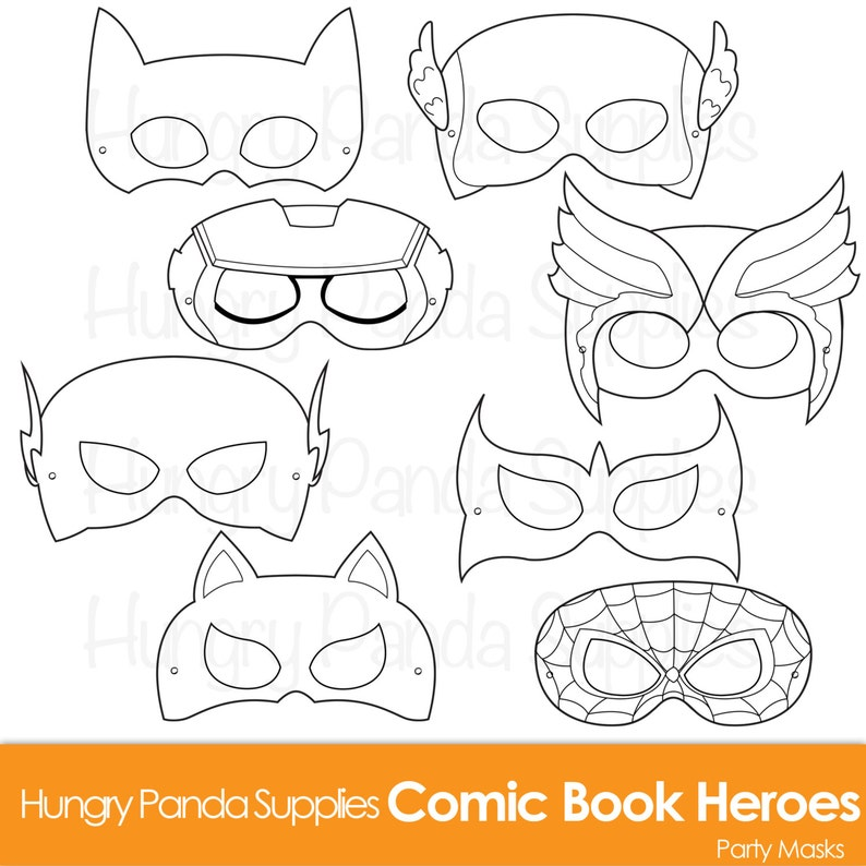 image about Super Hero Printable Masks identify Comedian Hero Masks, comedian e book heroes, comedian masks, Superhero Bash, Superhero Mask, heroes masks, Superhero Printable Masks, hero Mask