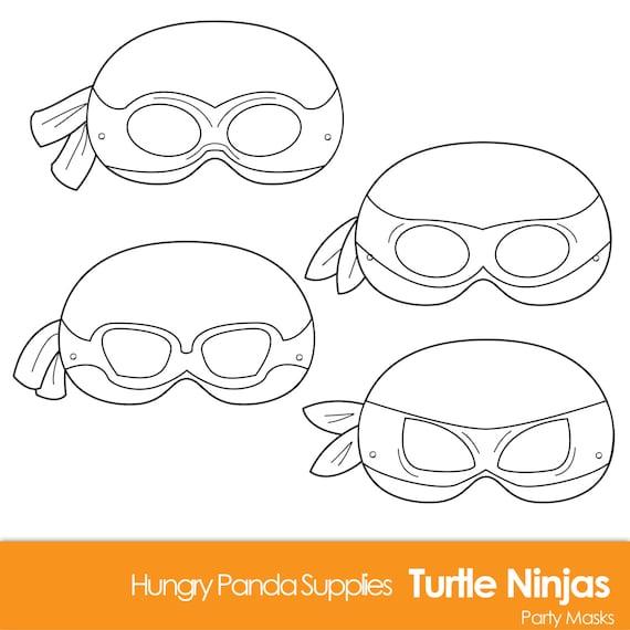 It is an image of Ninja Turtle Printable Mask with beach printable