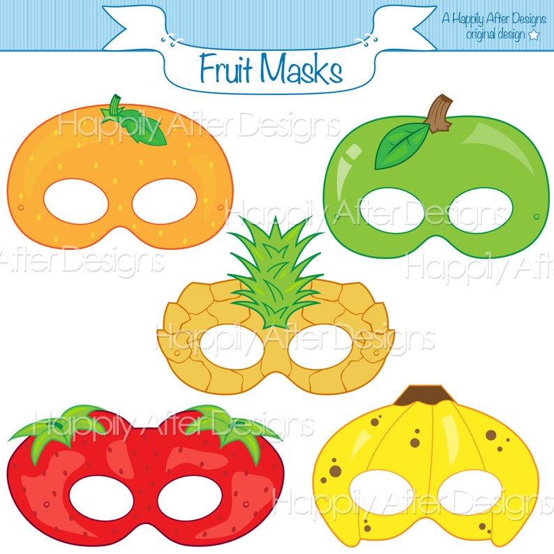 graphic regarding Printable Fruit Pictures titled End result Printable Masks, strawberry mask, banana mask, orange, apple, pineapple, fruit gown mask, end result, apple gown, printable mask