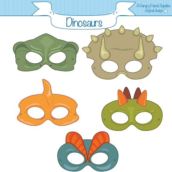 Dinosaurs Printable Masks Dinosaur Mask Trex Mask Etsy
