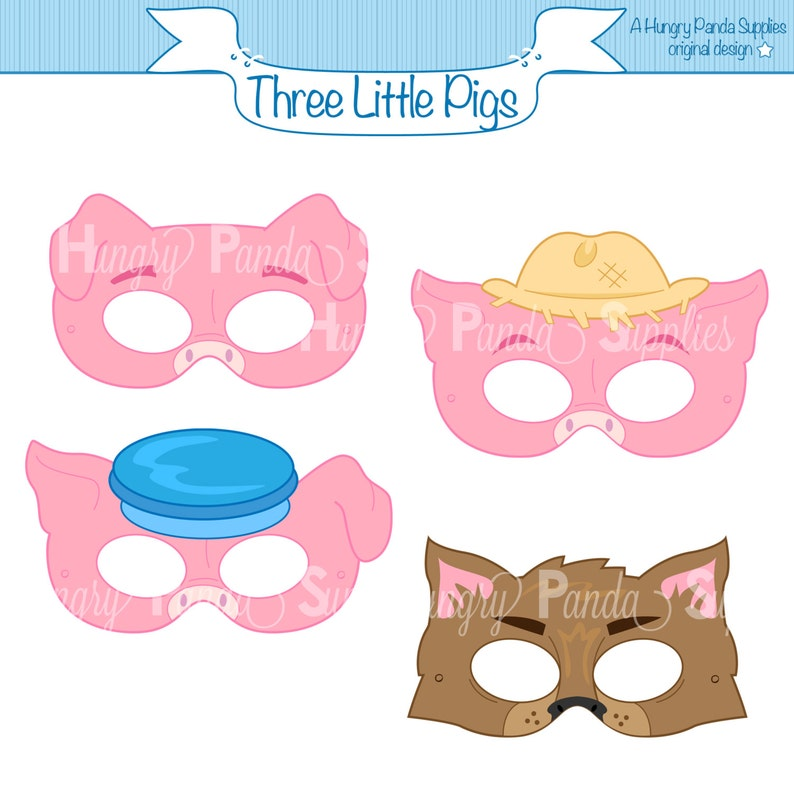 photo relating to Printable Pig Mask called A few Minimal Pigs Printable Masks, 3 very little pigs, huge lousy wolf, pigs, wolf, fairy story, tale e book, people, mask print, dress mask