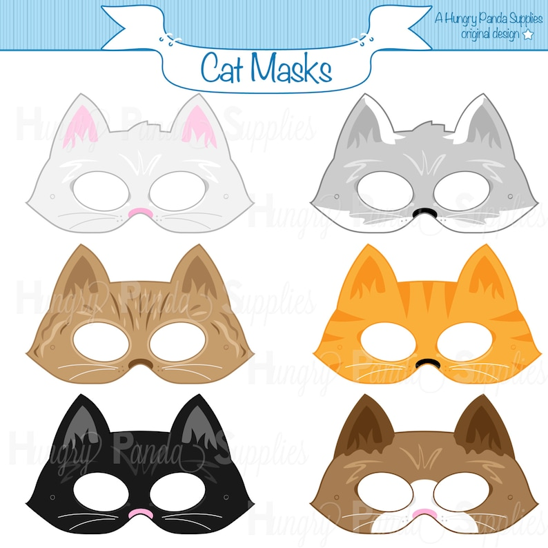 photograph relating to Printable Pictures of Cats titled Cats Printable Masks, cat mask, kitten mask, kitty mask, animal mask, cat gown, kitties, feline, cat animal dress, halloween, print