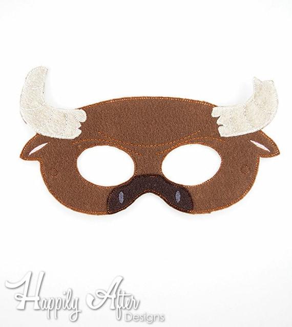 Bordado de Minotauro bordado diseño de máscara máscara de | Etsy