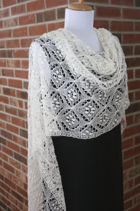 Vierpassig Lace Schal PDF-Muster stricken schnüren | Etsy