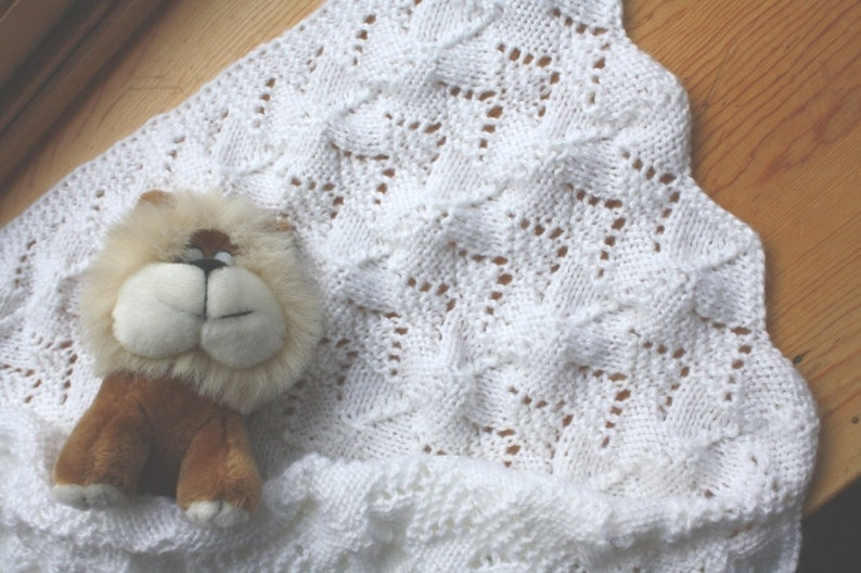 ca61d31e8 Reversible Lace Baby Blanket Pattern PDF
