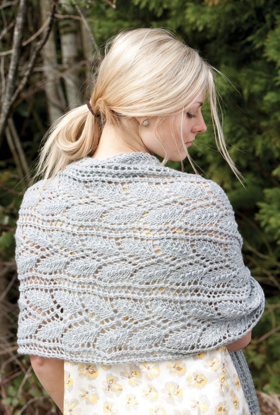 Knitted Wrap Scarf Or Prayer Shawl Pattern Pdf Download Etsy