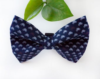 Bicycle Dog Bow Tie and Dog Collar