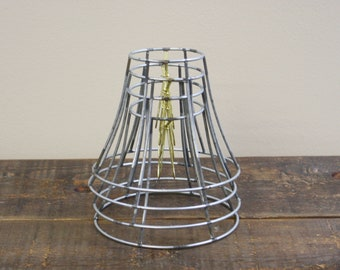 Lampshade frame etsy metal lampshade frames set of four metal frame salvaged lighting parts greentooth Gallery