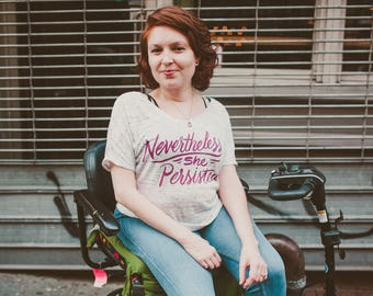 Nevertheless, She Persisted Scoop Neck Tee