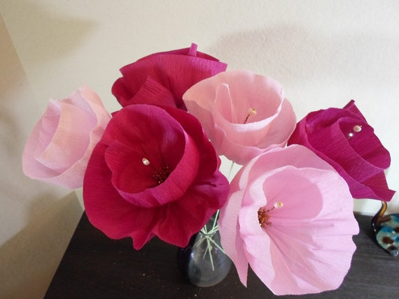 Crepe paper flowers mexican fiesta style flowers are etsy image 0 mightylinksfo