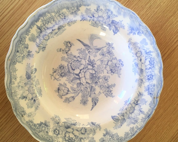 Antique Asiatic Pheasants Salad Plate / Shallow Bowl