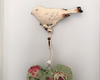 Metal bird hooks, craft room tidy, coat hook, hooks for shop display, bird hook, office tidy, jewellery display