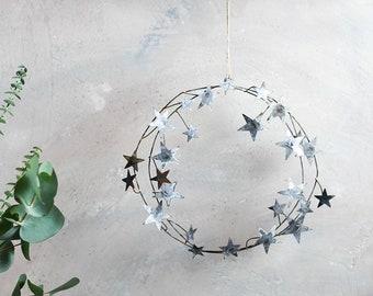 Rustic Star Wreath, alternative wreath, metal wreath, star theme, swedish star, rustic wedding, simple