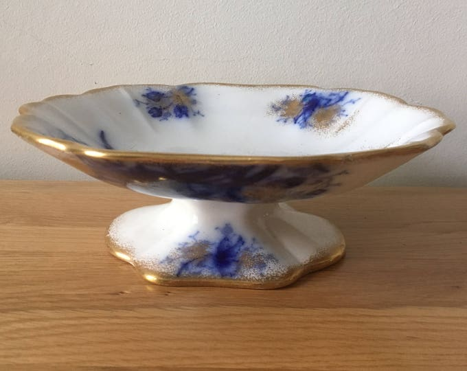 Blue & White Antique Cake Stand