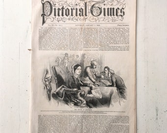 Antique 'Pictorial Times' Newspaper, 1848