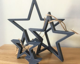 Wooden Stars Sets from East of India, alternative wreath, wedding display, star theme, swedish star, rustic wedding, wooden decoration