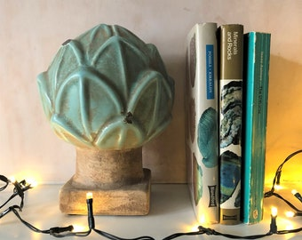 Ceramic Artichoke, botanical interiors, objet, plant-themed interiors, garden room, mothers day gift, green interiors, gift for garden lover