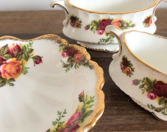 Old Country Roses set of trinket dishes