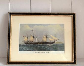 Print of a ship, the S. S. Precursor