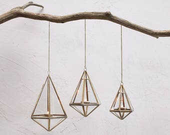 Handmade Brass Hanging Lanterns