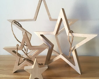 Wooden Stars Sets from East of India