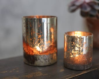 Rustic Silver Tealights