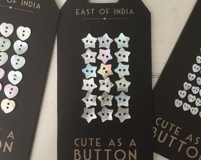 East of India Mother of Pearl Buttons